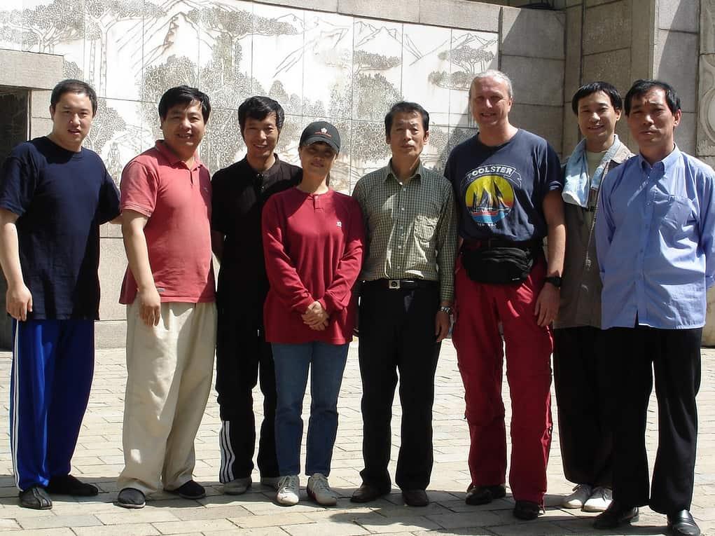 De leerlingengroep van dr. Zhu in 2005.