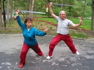 Tai Chi zwaard met mevrouw Li.